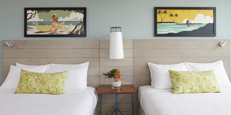 퀸 카피올라니 호텔 오션 뷰 룸 퀸 침대 2 개